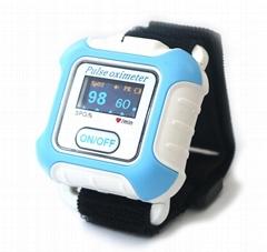 带有IOS,安卓蓝牙的手腕脉搏血氧仪