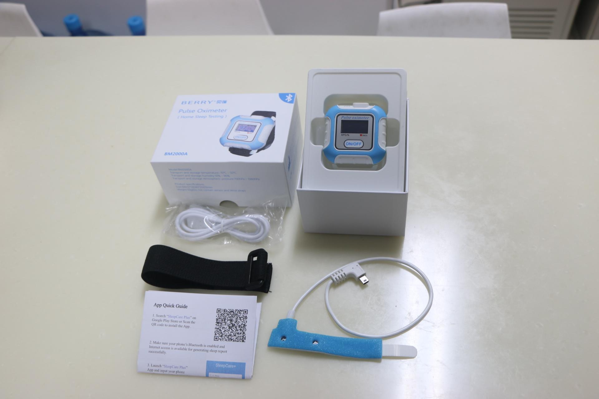 帶有IOS,安卓藍牙的手腕脈搏血氧儀 4