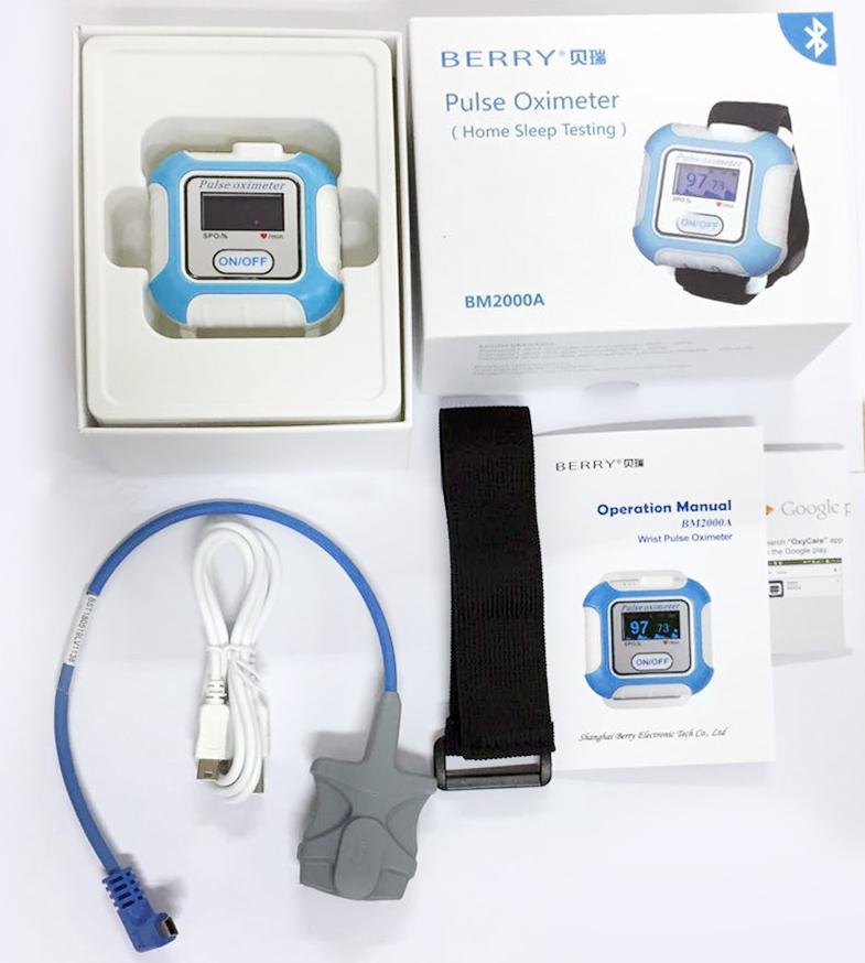 帶有IOS,安卓藍牙的手腕脈搏血氧儀 6