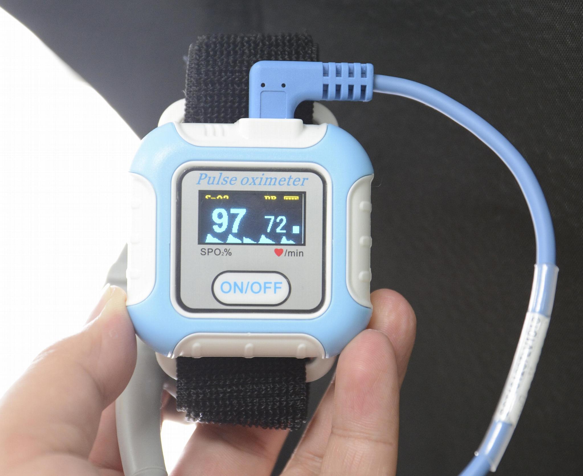 血氧传感器LCD屏医用睡眠蓝牙腕部脉搏血氧仪 1
