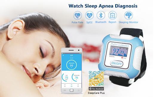 血氧传感器LCD屏医用睡眠蓝牙腕部脉搏血氧仪 4