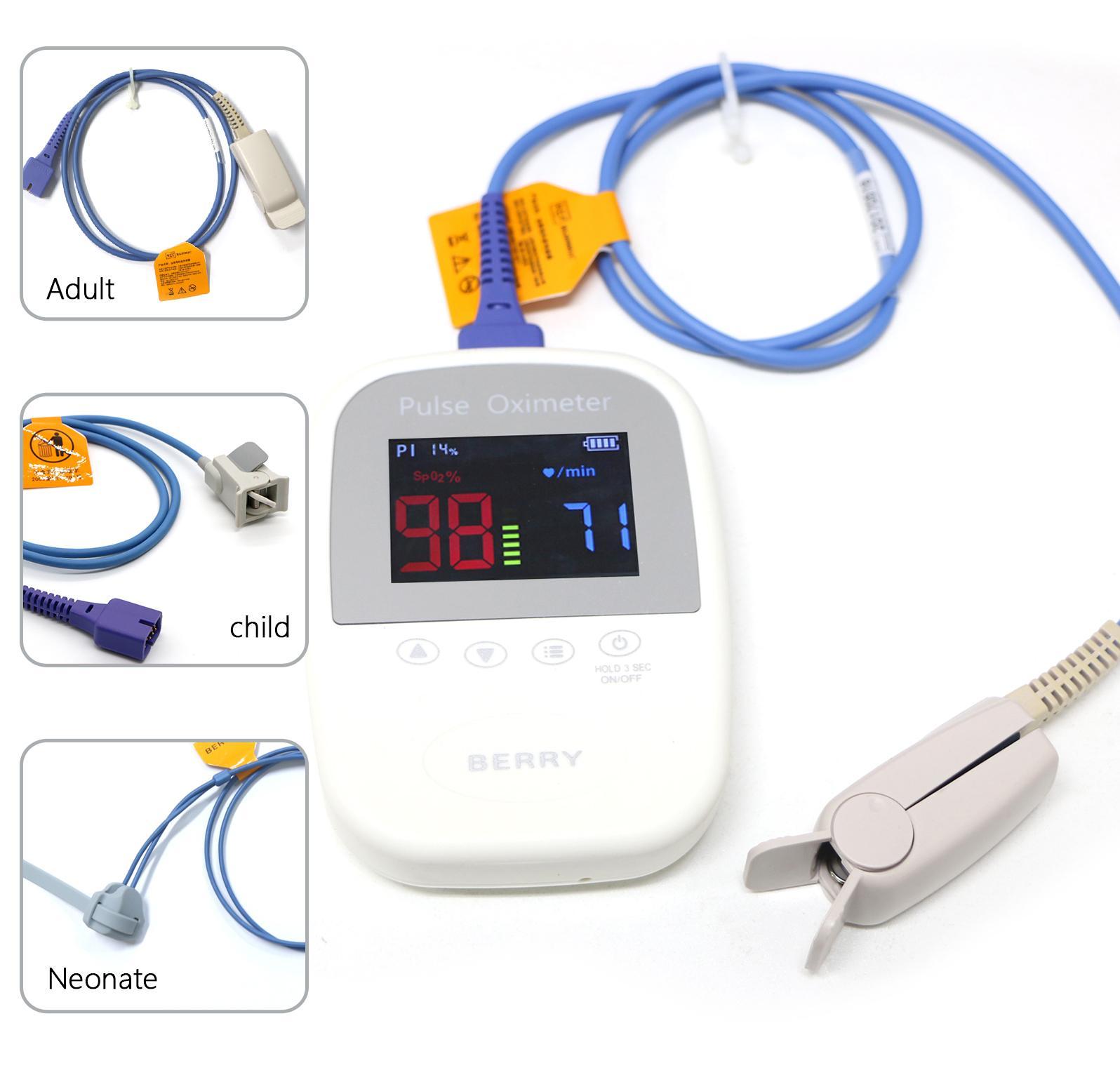 成人和嬰儿用高質量藍牙手持脈搏血氧計 1