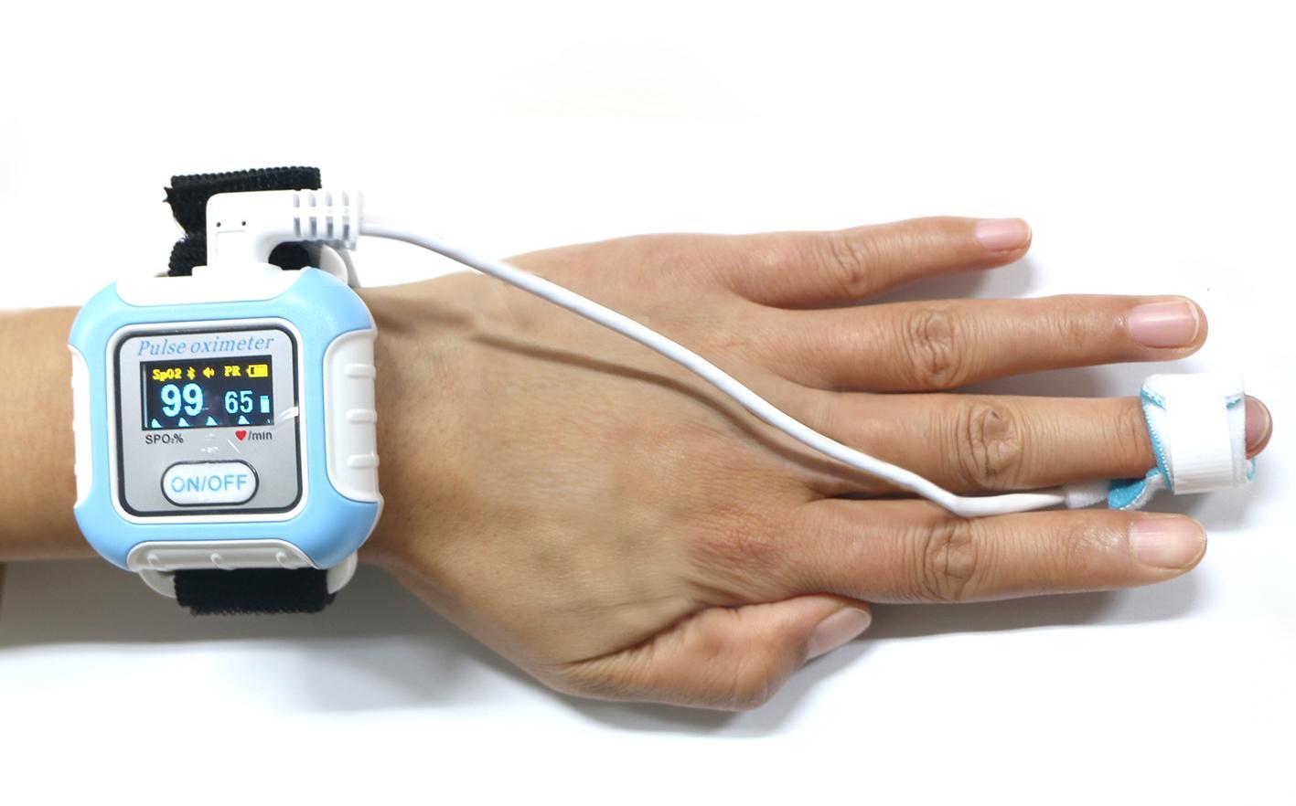 診斷睡眠呼吸暫停醫學CE批准藍牙手腕脈搏血氧儀 4