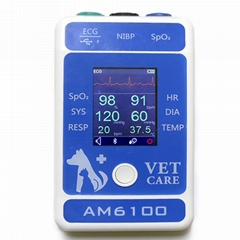 Animal 6multiparameter ecg medical portable Bluetooth patient monitor