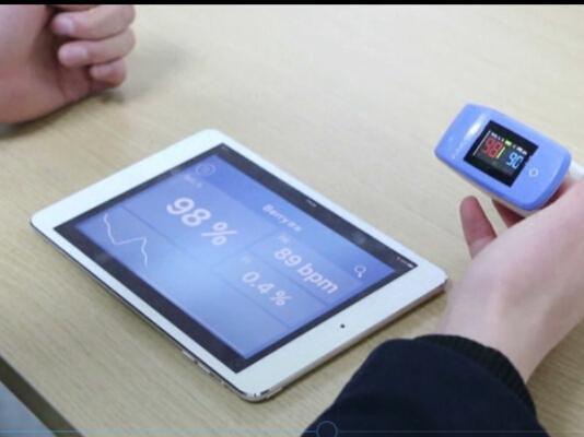 电子数字OLED屏幕指尖脉搏血氧仪 3