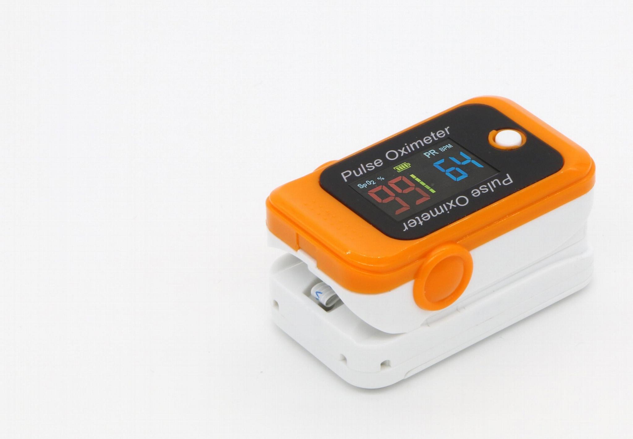 CE/FDA認証的血氧藍牙Oled指尖脈搏血氧儀 1