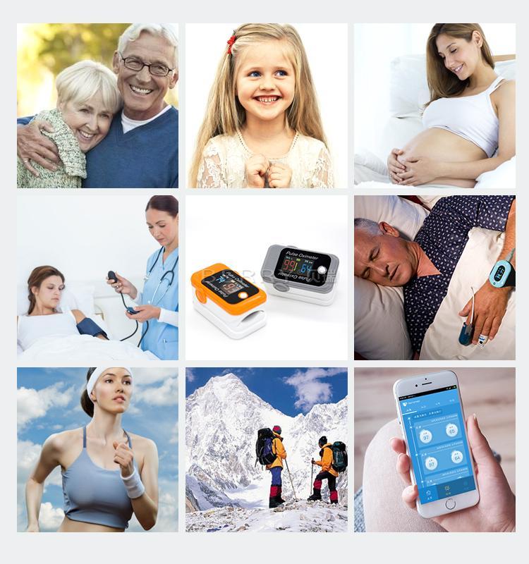 CE/FDA認証的血氧藍牙Oled指尖脈搏血氧儀 4
