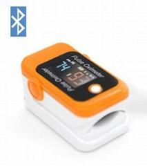 FDA&CE认证的LCD屏血氧蓝牙指夹脉搏血氧仪
