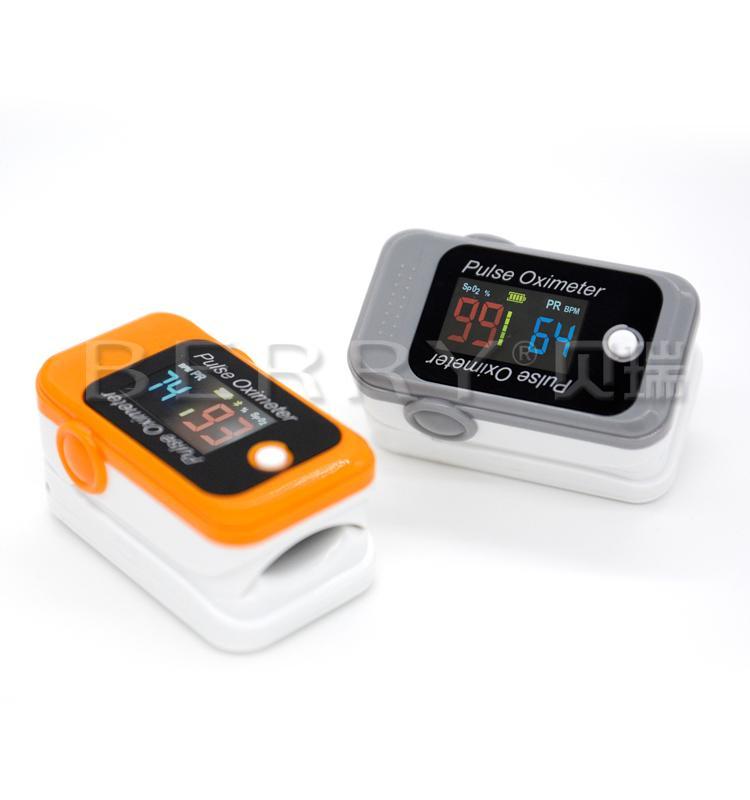 FDA&CE认证的LCD屏血氧蓝牙指夹脉搏血氧仪 2