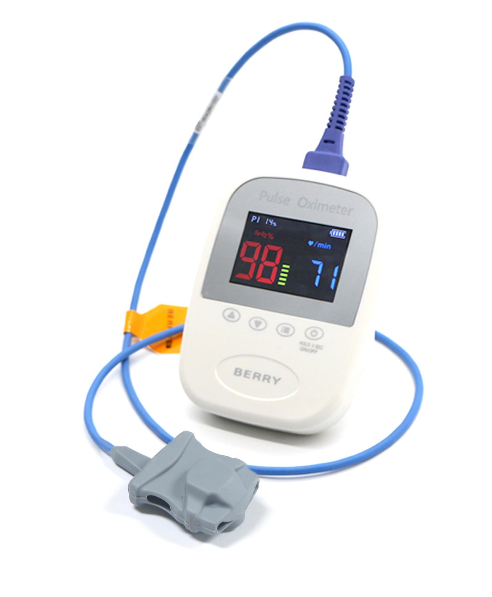 CE认证的OLED显示屏手持式指尖脉搏血氧仪 1