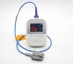 帶有體溫的手持式醫療用脈搏血氧儀