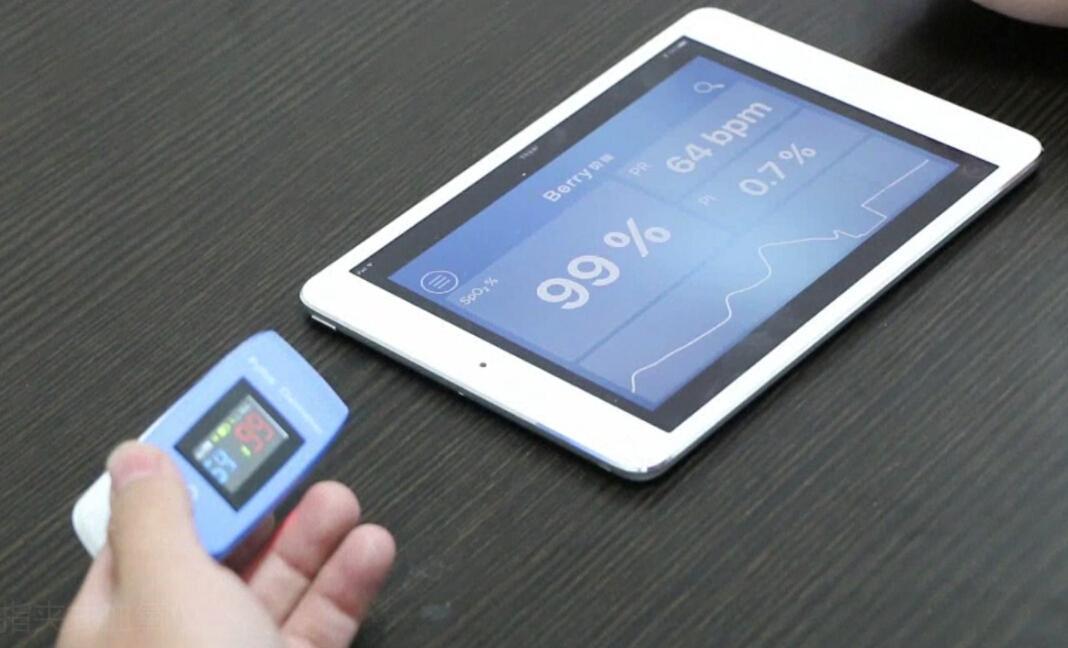 带有血氧参数的医用OLED屏数字指尖脉搏血氧仪 4