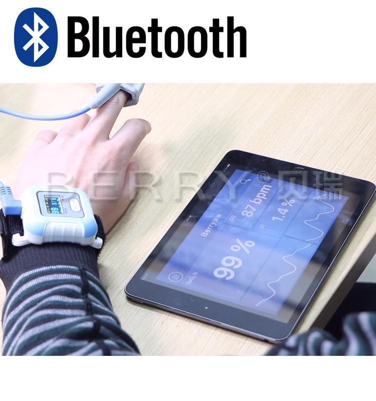 全新液晶彩色显示LCD屏腕式睡眠蓝牙脉搏血氧仪 6