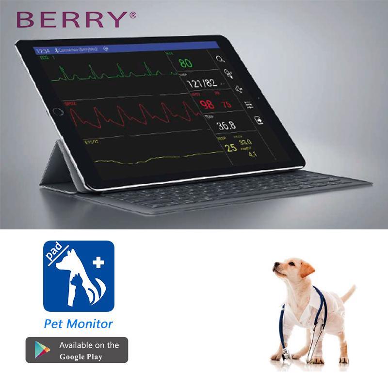 帶有獸醫配件的數字LCD屏高質量獸醫監測儀 2