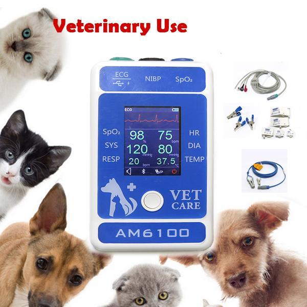 帶有獸醫配件的數字LCD屏高質量獸醫監測儀 5