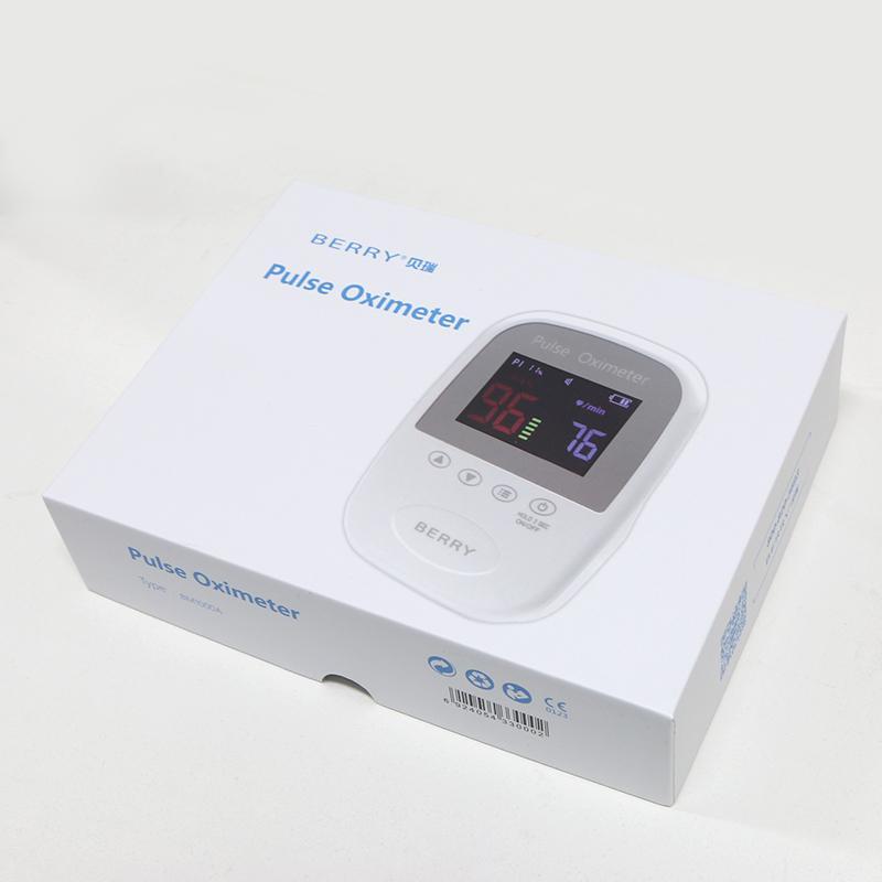 OLED屏微型便携式手持式指尖脉搏血氧仪 3