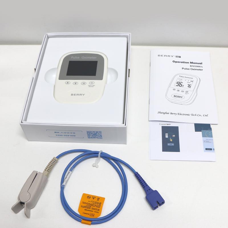 OLED屏微型便携式手持式指尖脉搏血氧仪 5