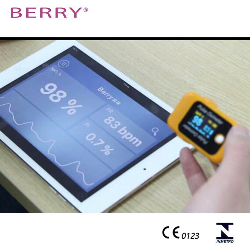 具有CE认证的OLED屏便携式指尖脉搏血氧仪 2