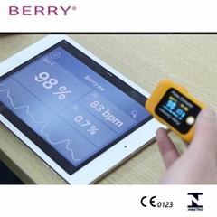 具有CE认证的OLED屏便携式指尖脉搏血氧仪