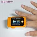 热卖的不同颜色的OLED屏指尖蓝牙脉搏血氧仪 2