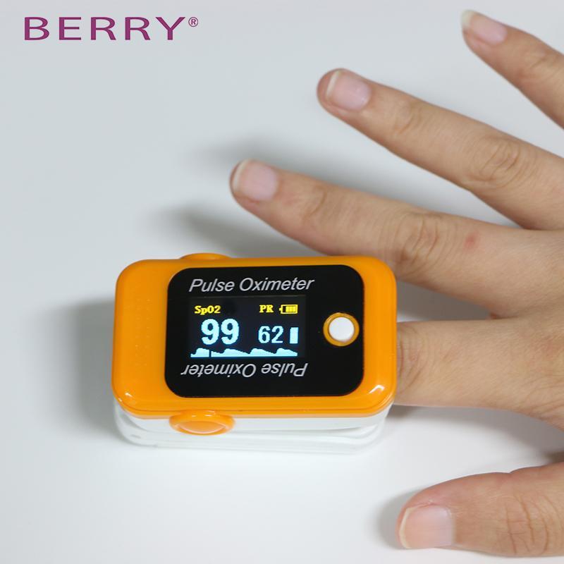 便宜的CE/FDA认证的家用LED屏指尖脉搏血氧仪 2