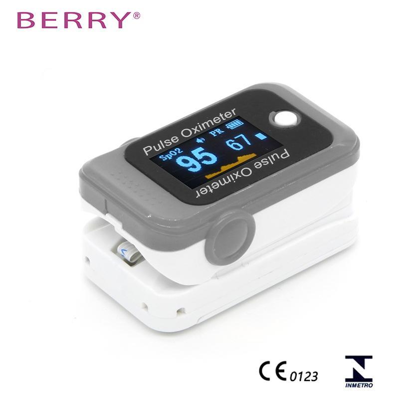 CE认证的IOS和安卓能使用的OLED屏蓝牙指尖脉搏血氧仪 2
