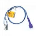 Nellcor DS 100A Non-OxiMax Adult Finger Clip Spo2 Sensor Probe  3 ft 7 pin