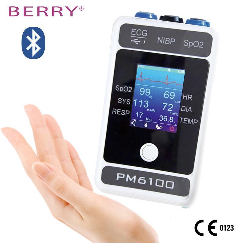 CE认证的2.4英寸无线彩色触摸屏患者监护仪 4