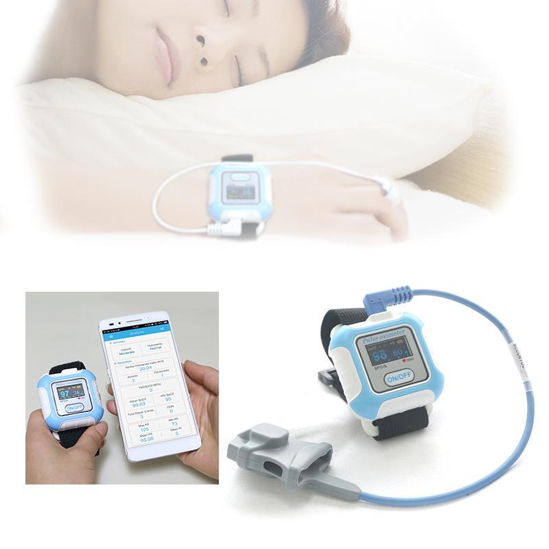 全新液晶彩色显示LCD屏腕式睡眠蓝牙脉搏血氧仪 1