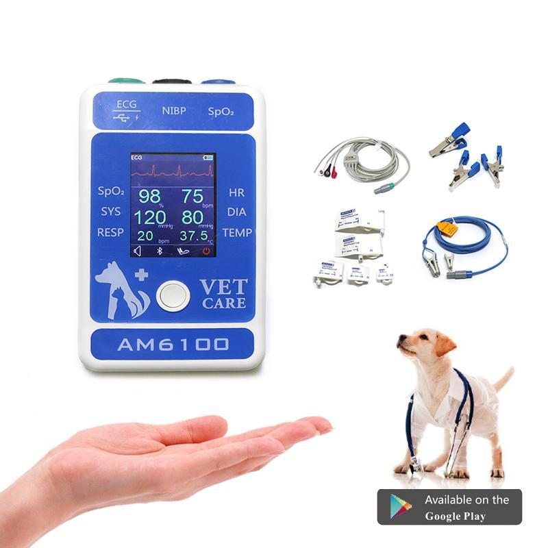 快速到達帶CE認証的動物/獸醫手持式心電圖監視器 2