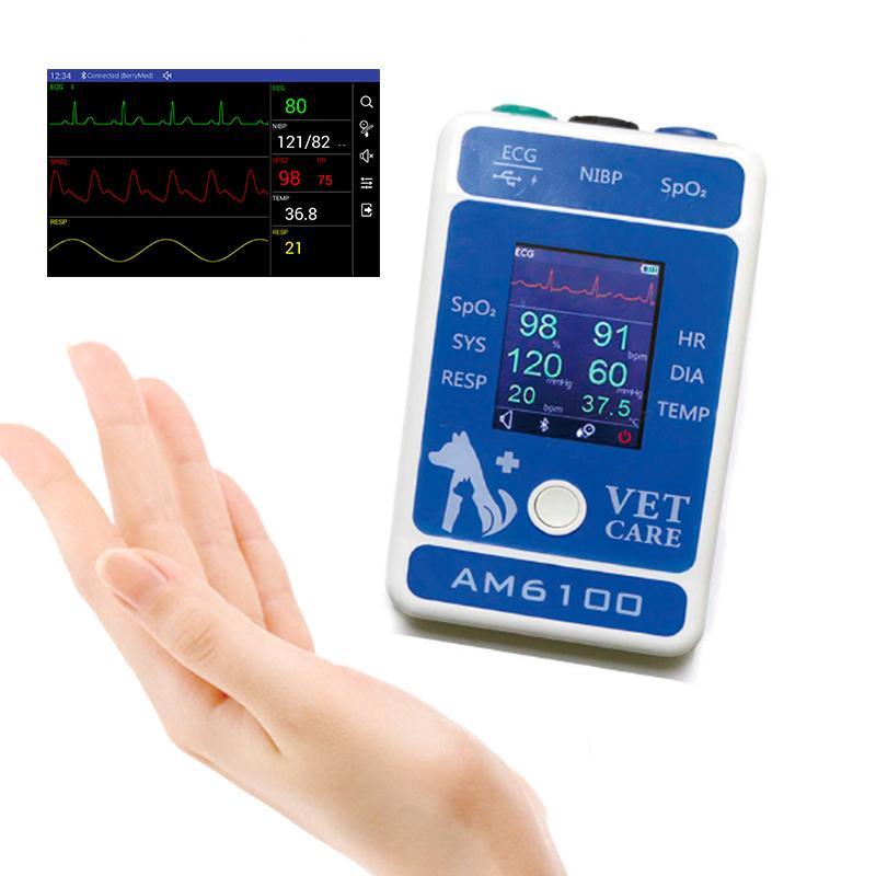 動物6參數醫用心電圖藍牙患者監護儀 8