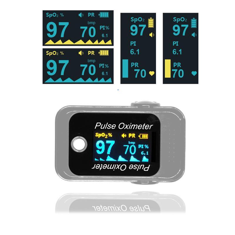 廉价OLED小儿便携式指尖脉搏血氧仪 1