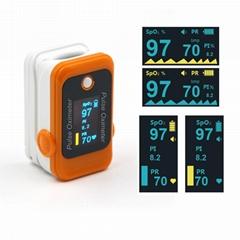 2018年CE认证的OLED指尖脉搏血氧仪