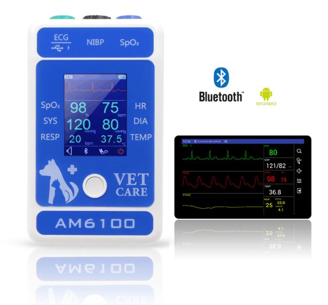 快速到达带CE认证的动物/兽医手持式心电图监视器 6