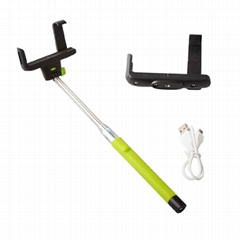 Handheld monopod Wireless Bluetooth Monopod for ios 4.0 / android 3.0 Smartphone