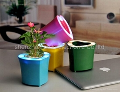 reative USB flower pot pen holder Speaker