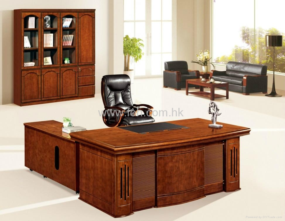 Nice wood veneer office table furniture project