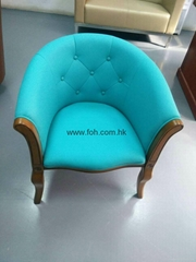 High End Design Stylish Blue Club Bistro Cafe Leisure Easy Chair Fauteuil