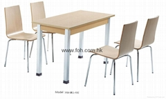 mesa de restaurante y una silla Cheap Dining Table and Chair for Sale