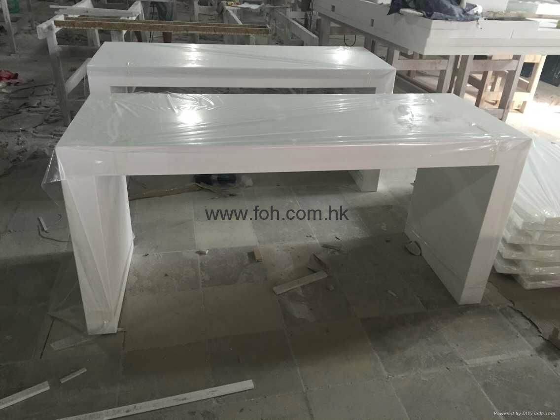 White Height Extra Long Bar Table With Base Foh Bc02w