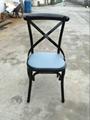 Sprig Bar Bistro Black Metal X Back Industrial Design Dining Chair 1