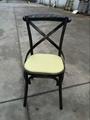 Sprig Bar Bistro Black Metal X Back Industrial Design Dining Chair 2