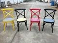 Sprig Bar Bistro Black Metal X Back Industrial Design Dining Chair 3