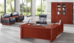 Classic wood design executive office desk