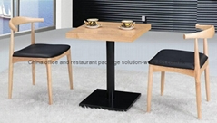Factory directly wooden cafe furniture set