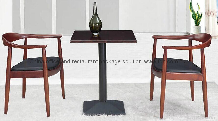 Top grade restaurant furniture dining table chair foh
