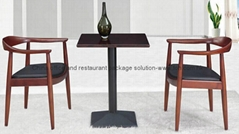 Top grade restaurant furniture dining table chair