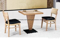 Luxury natural solid wood bistro furniture