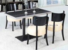 4 seaters rectangle wooden dining table