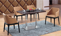 Hotel restaurant durable wooden eating table set